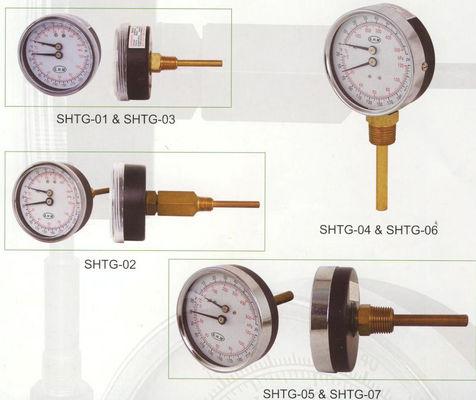 최상 80mm Tridicator 계기, 온수 보일러를 위한 온도 계기를 다이얼을 돌리십시오